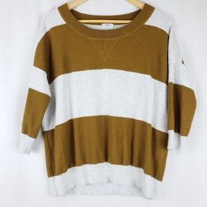 Madewell Wallace Striped Wool Cotton Sweater